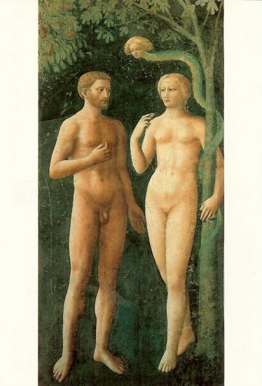 """Adam et Eve"" selon Masolino"